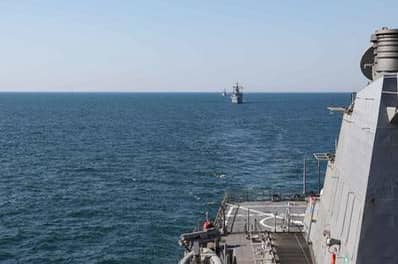 Russia's Black Sea Fleet practiced using Bastion coastal missile defense system.